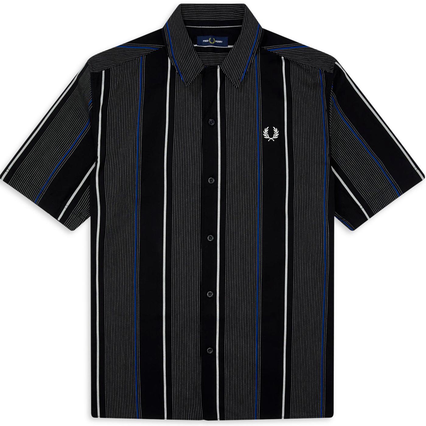 FRED PERRY Retro Stripe Revere Collar Shirt (B)