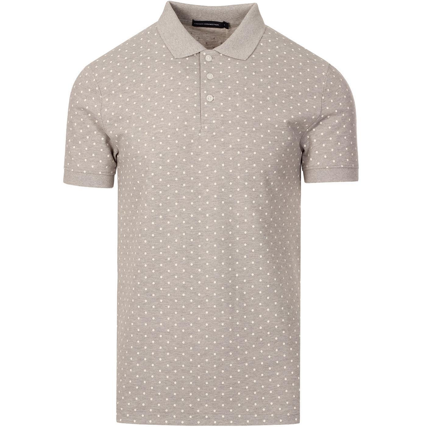 FRENCH CONNECTION Sixties Mod Polka Dot Pique Polo