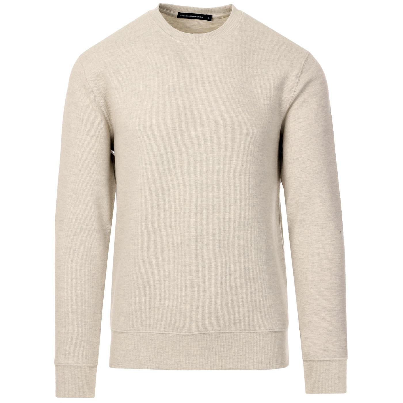 FRENCH CONNECTION Mens Flatback Rib Crew Sweater D