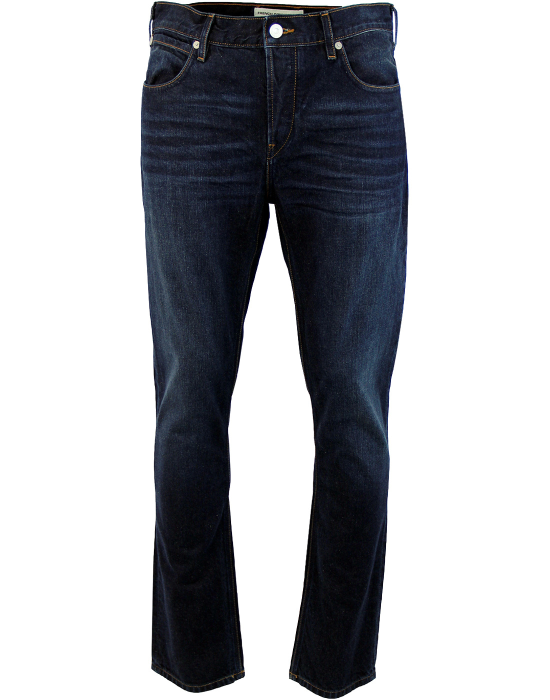 French Connection Jeans Indigo Blue Regular Standard Straight Leg Denim Pants
