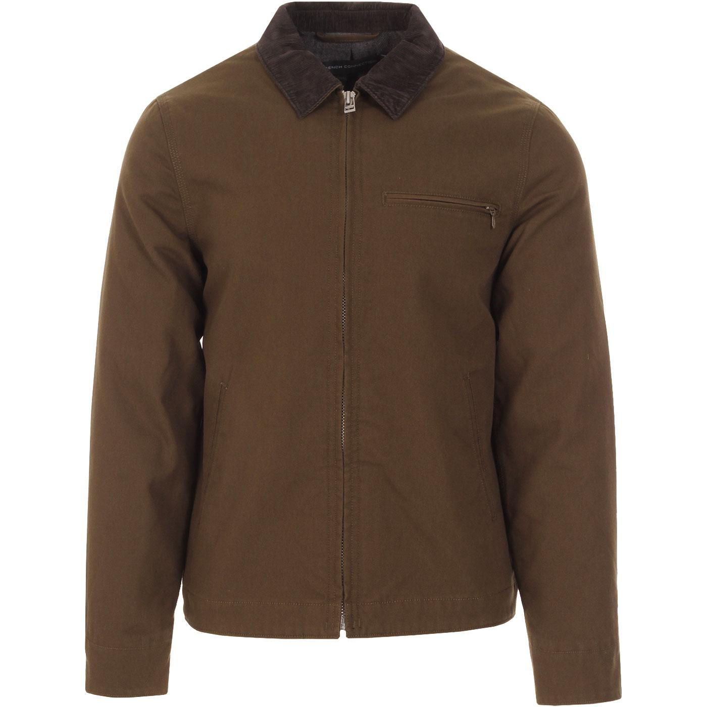 FRENCH CONNECTION Mod Utility Cotton Canvas Jacket