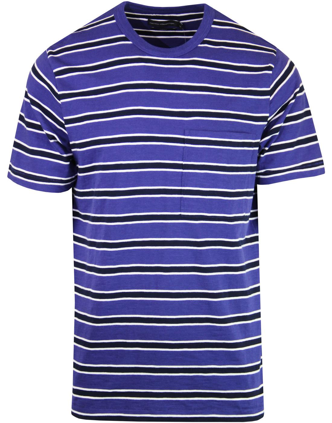 FRENCH CONNECTION Retro Mod Multi Stripe T-shirt