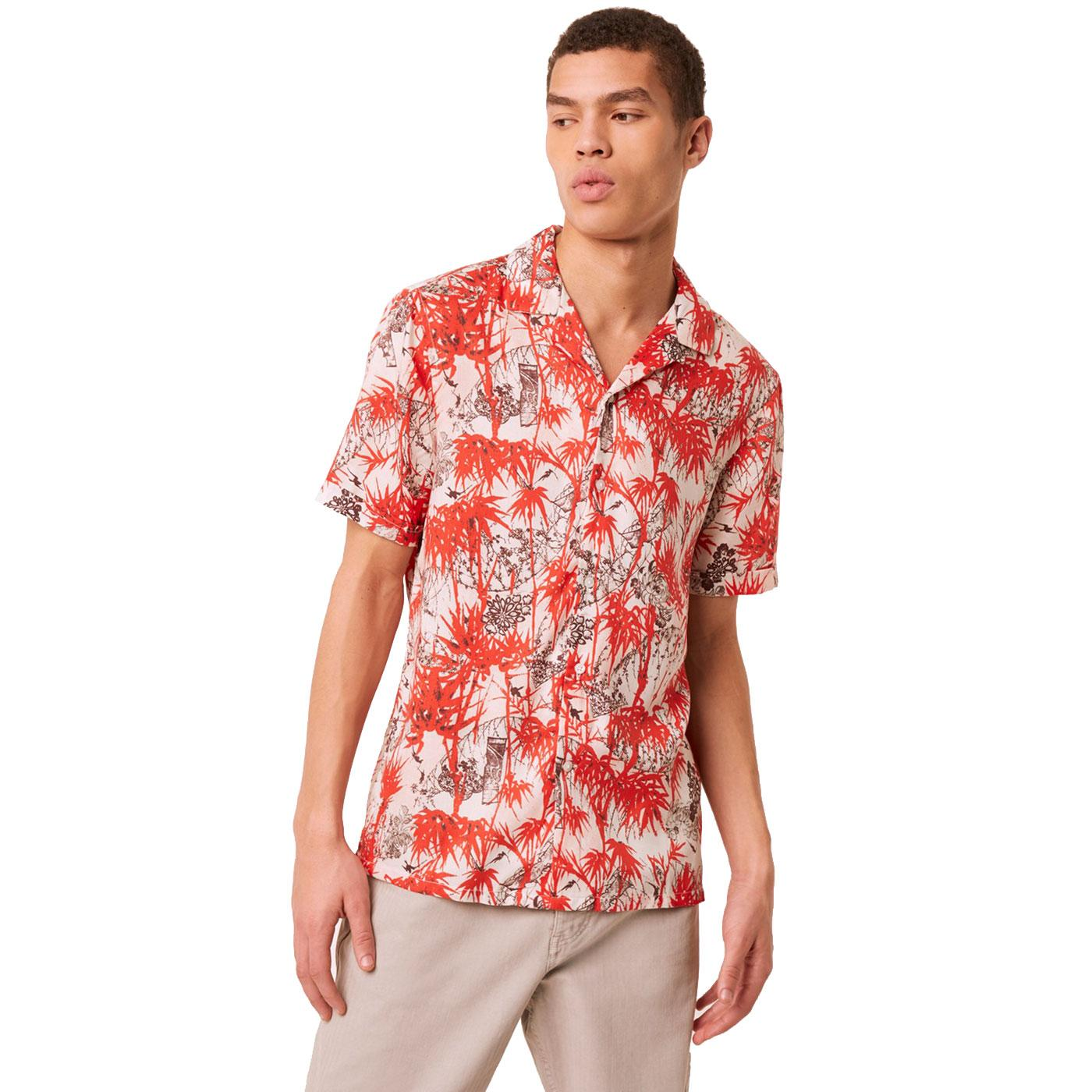 FRENCH CONNECTION Floral Revere Collar Shirt C