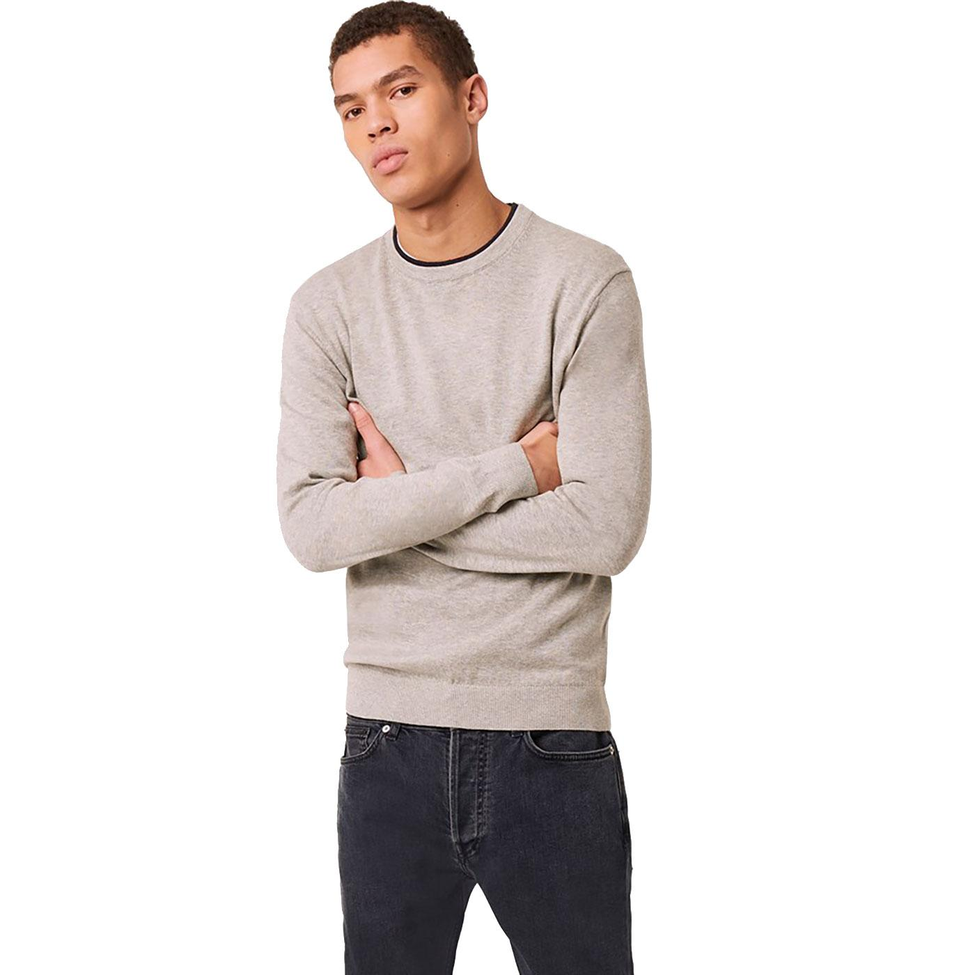 FRENCH CONNECTION Double Collar Knitted Jumper LG