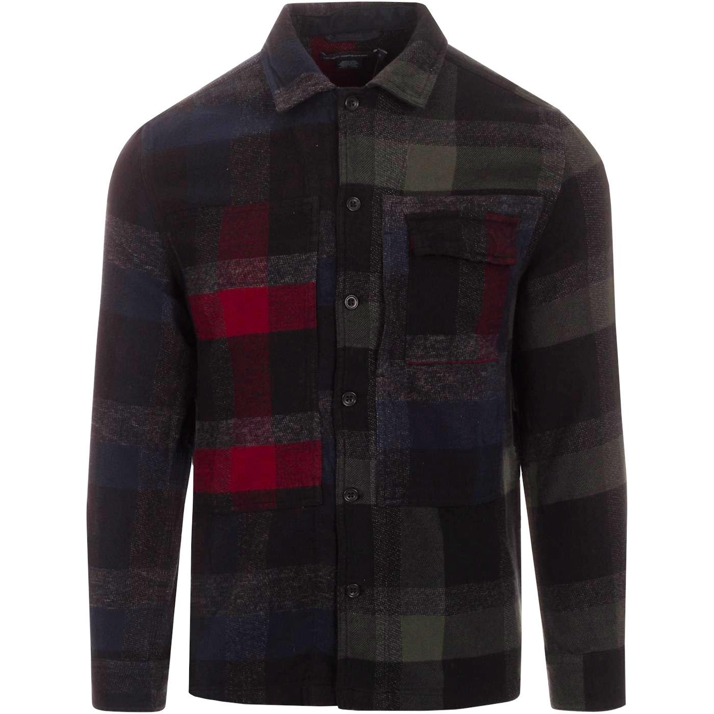FRENCH CONNECTION Retro Dotted Flannel Check Shirt