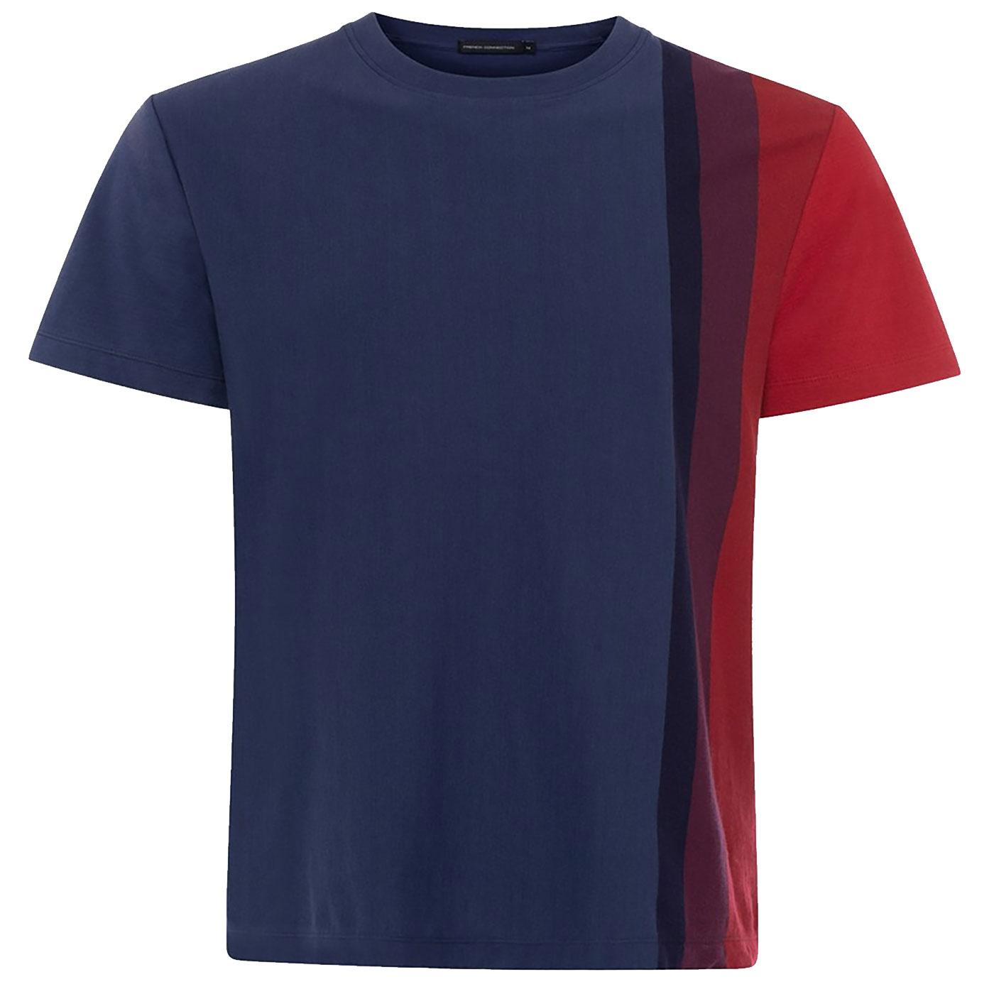 FRENCH CONNECTION Retro Gradient Stripe T-Shirt
