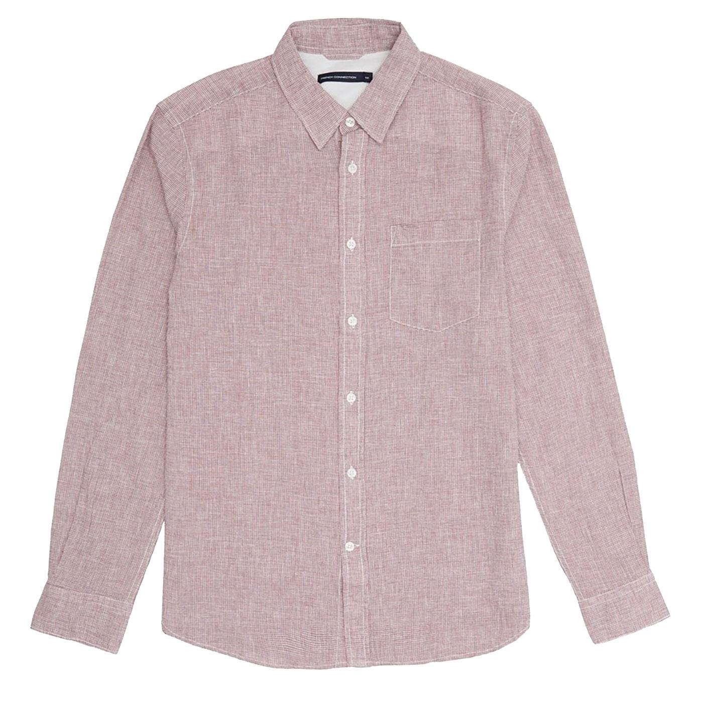 FRENCH CONNECTION Mens Houndstooth Check Shirt