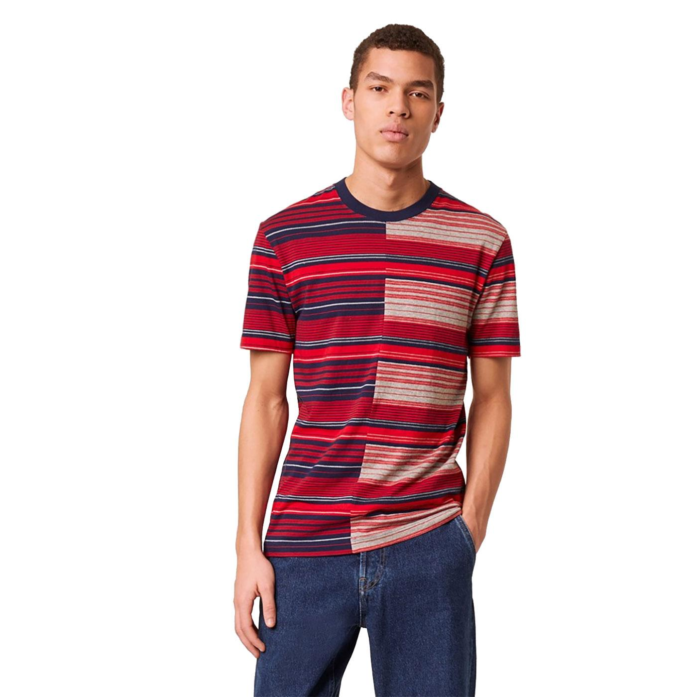 Kamo FRENCH CONNECTION Bold Multi Stripe T-Shirt