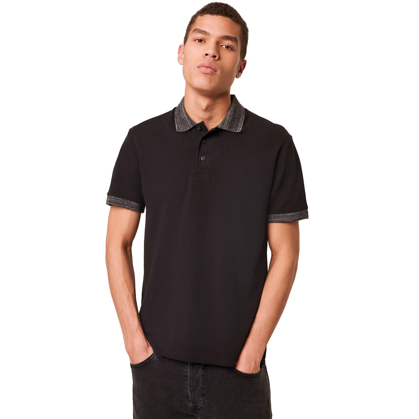 FRENCH CONNECTION Contrast Melange Collar Polo B
