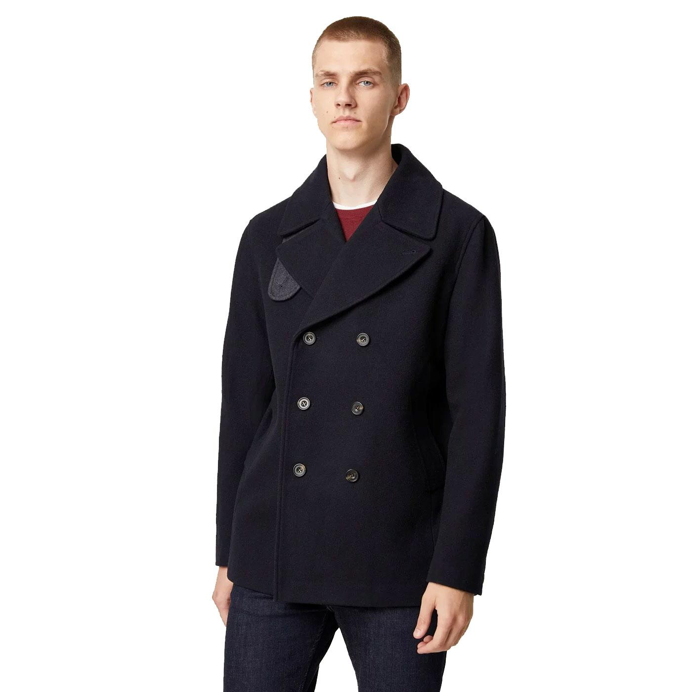 FRENCH CONNECTION Classic 60s Mod Reefer Peacoat
