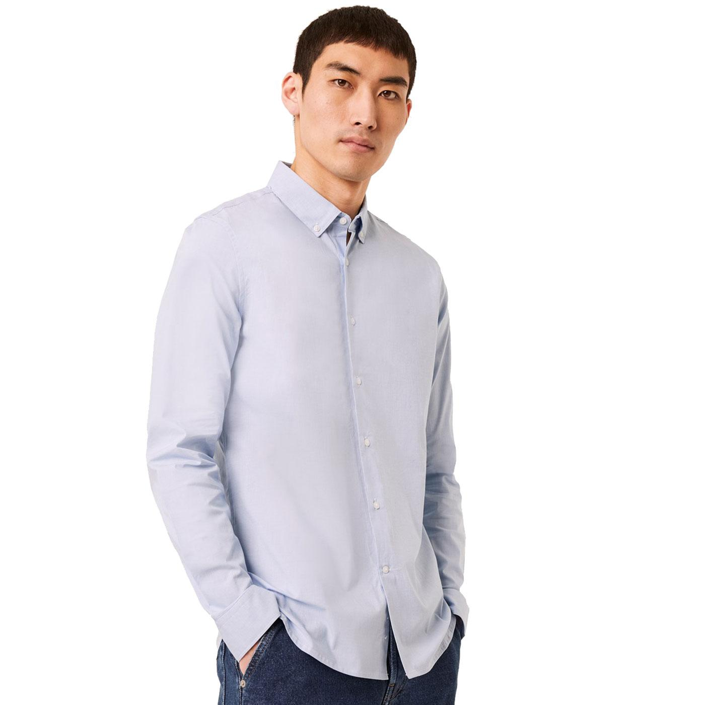 FRENCH CONNECTION Formal Micro Check Oxford Shirt