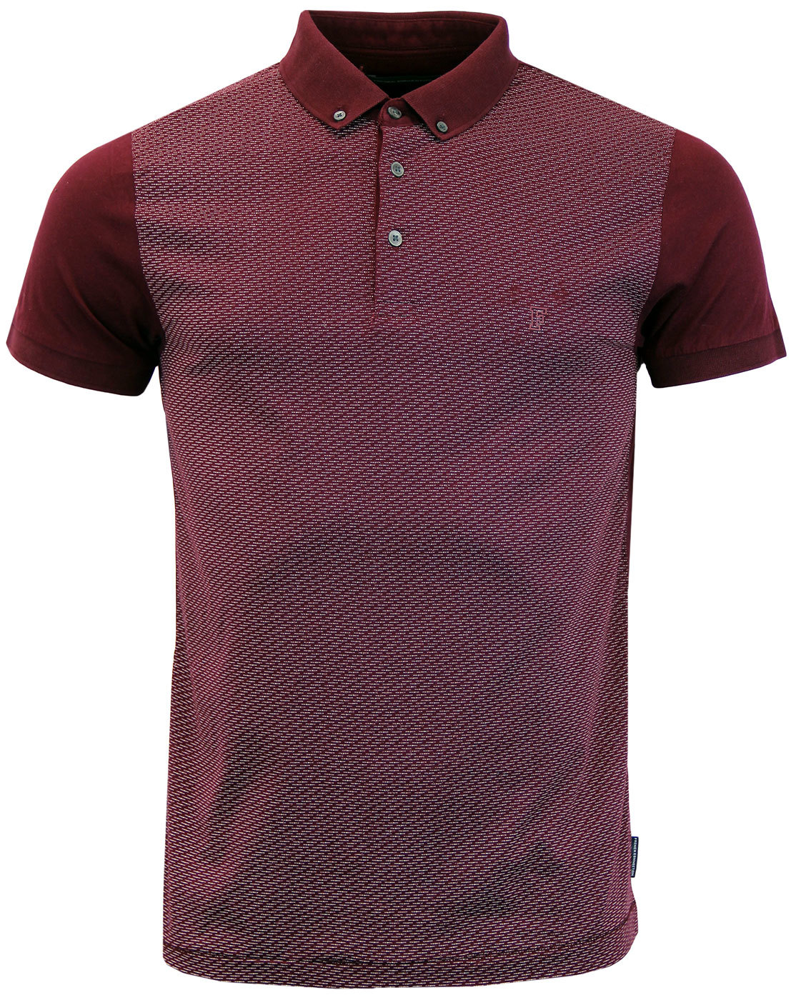 Morse Code FRENCH CONNECTION Retro Mercerised Polo