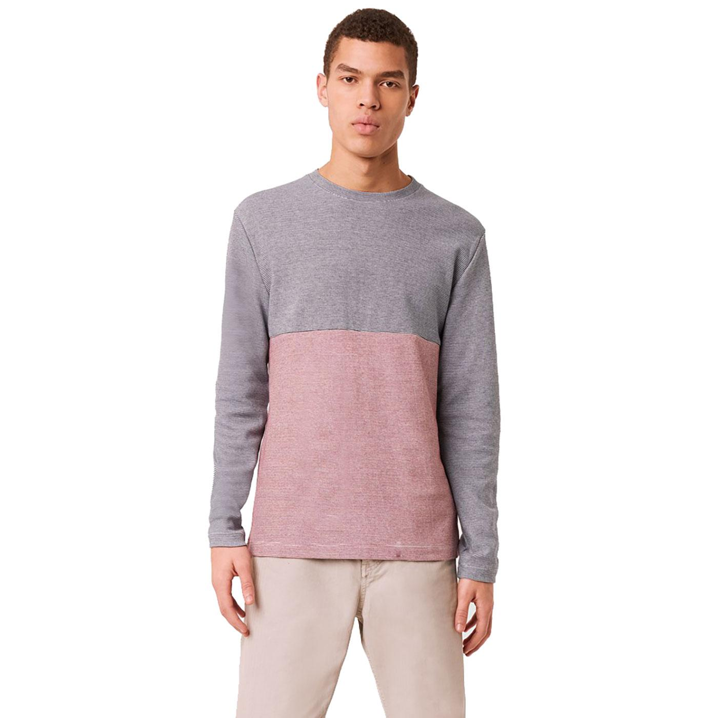 FRENCH CONNECTION Plated Micro Stripe L/S Top