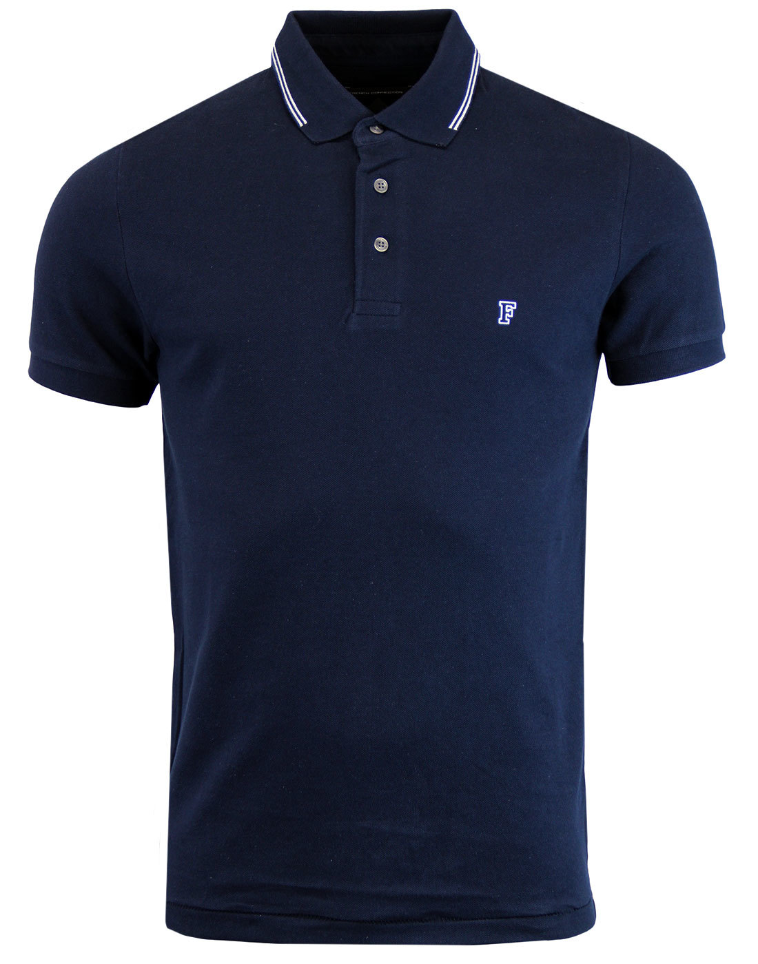 FRENCH CONNECTION Mod Twin Tip Pique Polo MARINE