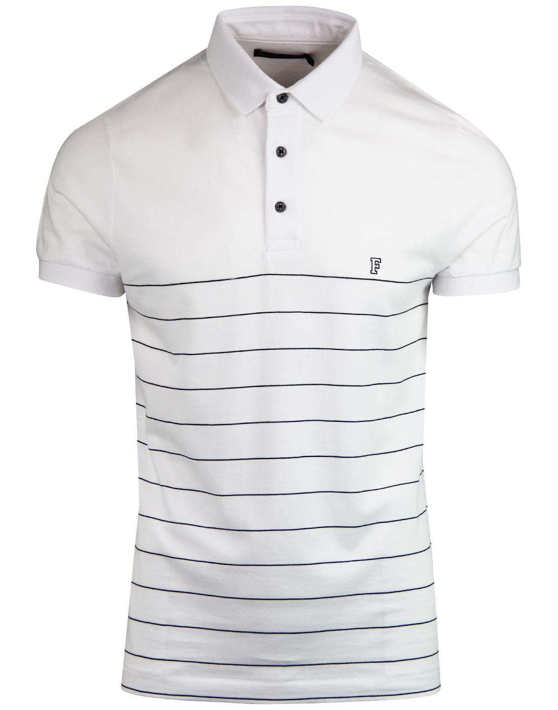 FRENCH CONNECTION Retro Engineered Stripe Polo Top