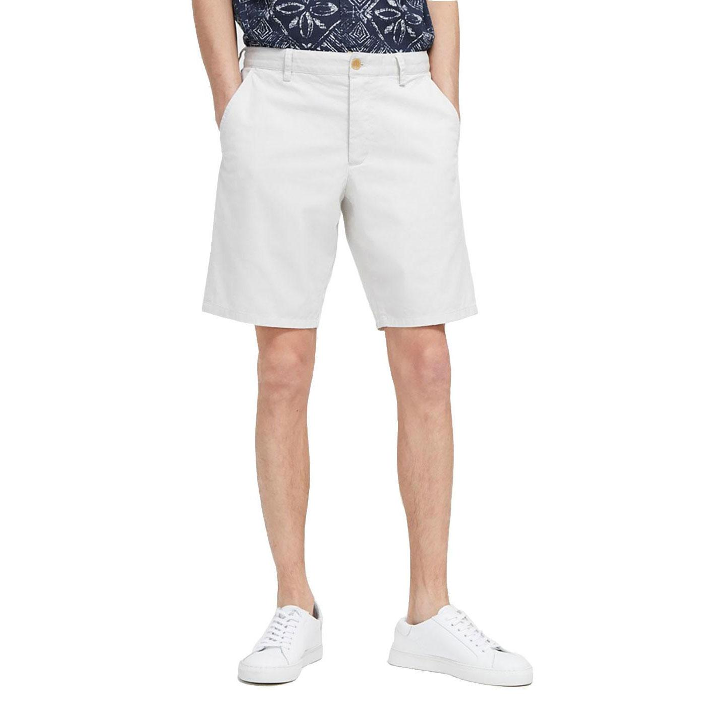 FRENCH CONNECTION Machine Stretch Shorts FROST