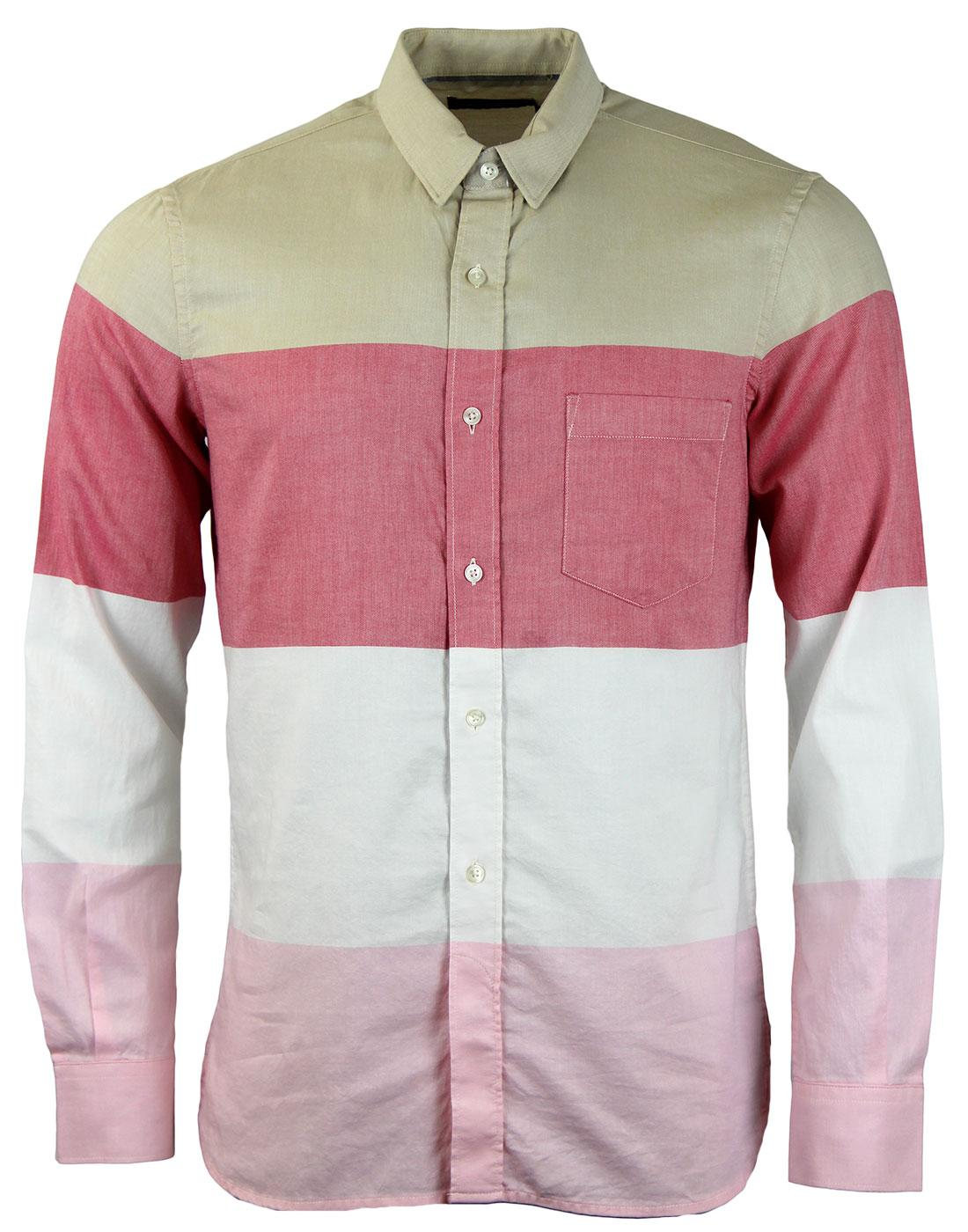 FRENCH CONNECTION Girodet Mod Oxford Stripe Shirt