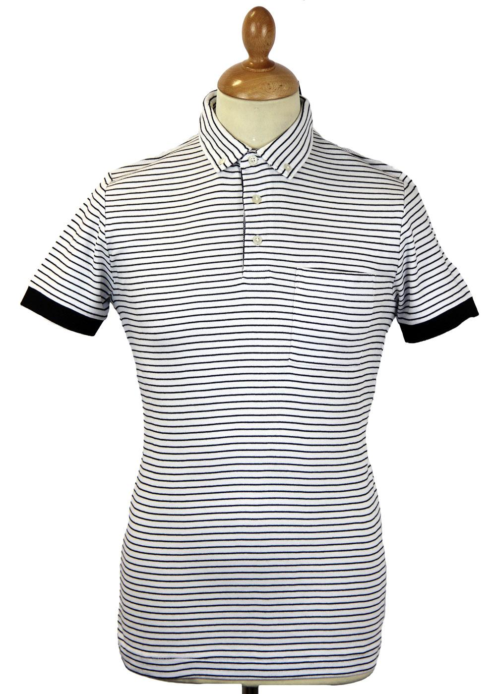 FRENCH CONNECTION Exhibition Stripe Retro Mod Polo