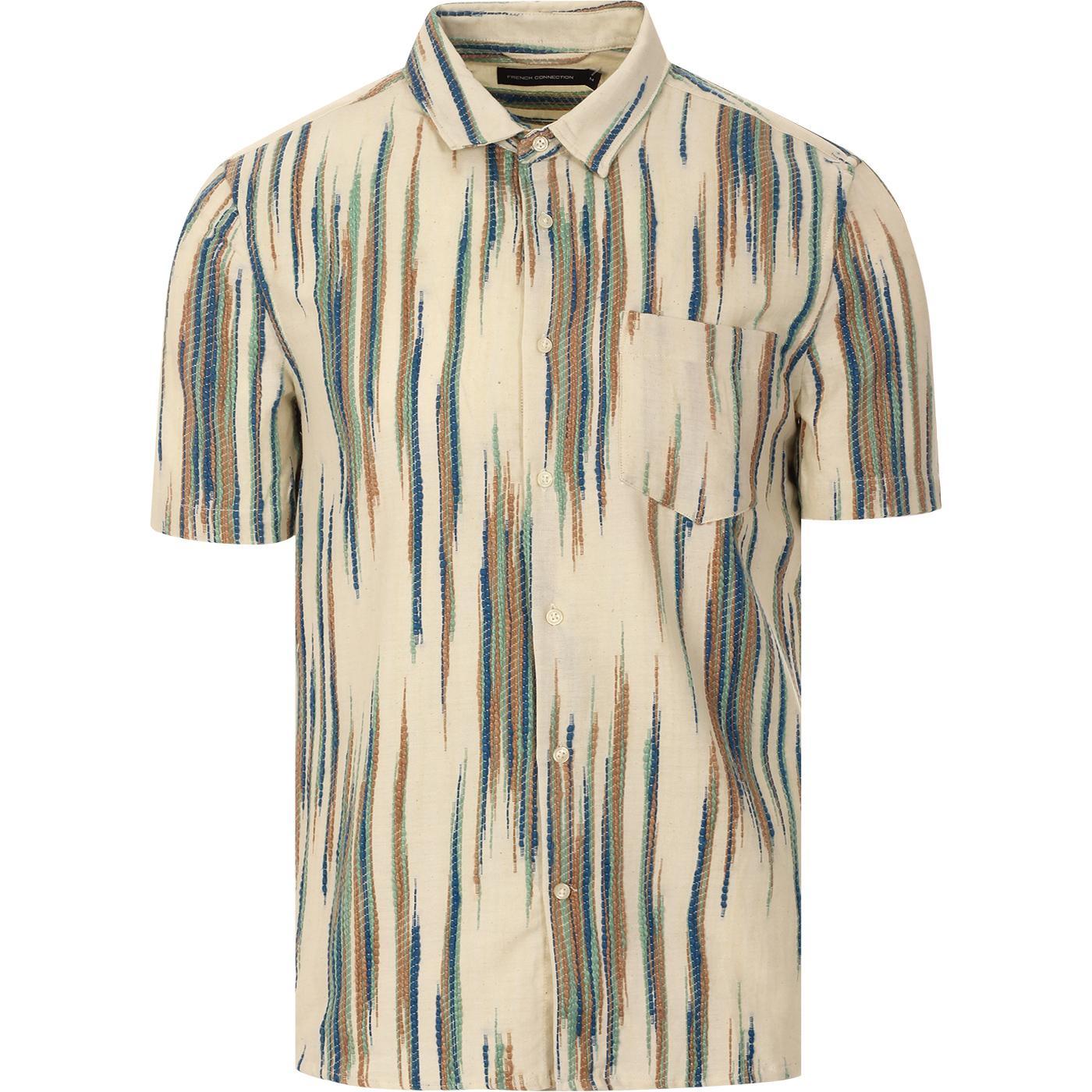 FRENCH CONNECTION Retro 70s Handloom Dobby Shirt