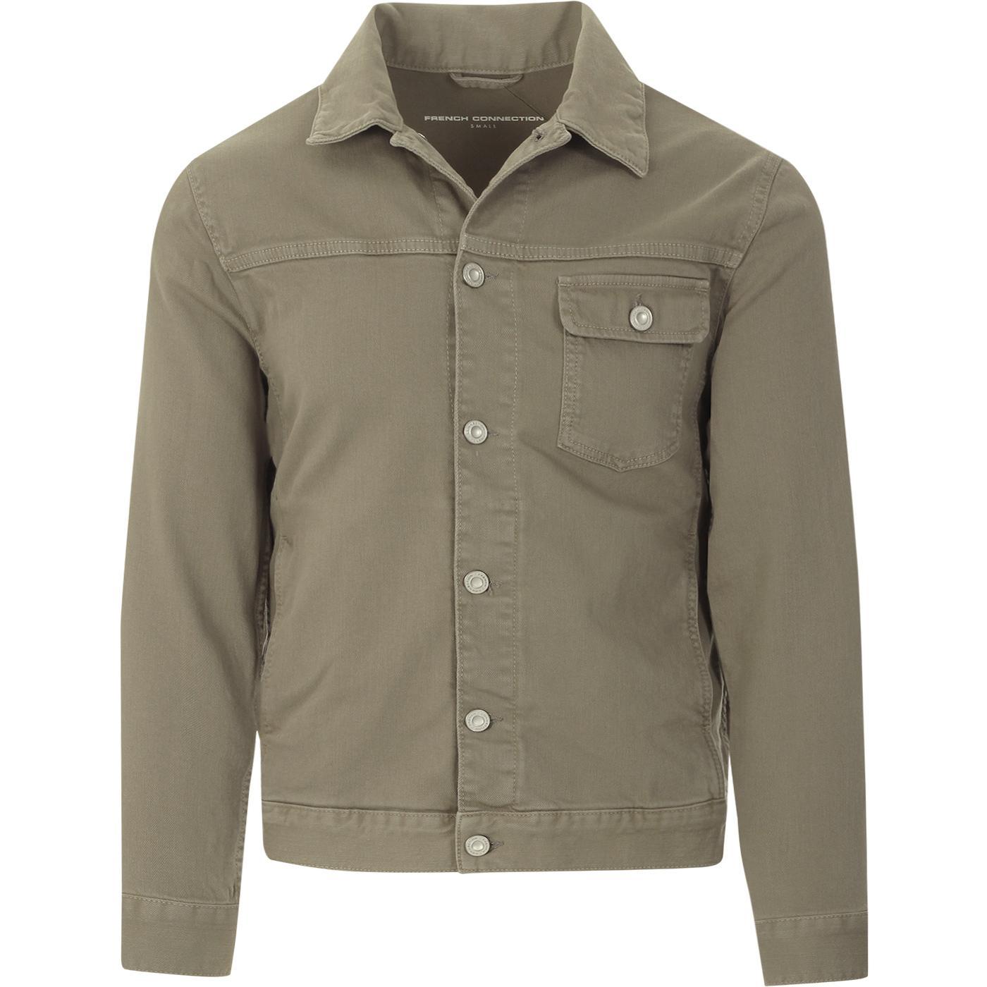 FRENCH CONNECTION Retro Military Denim Jacket