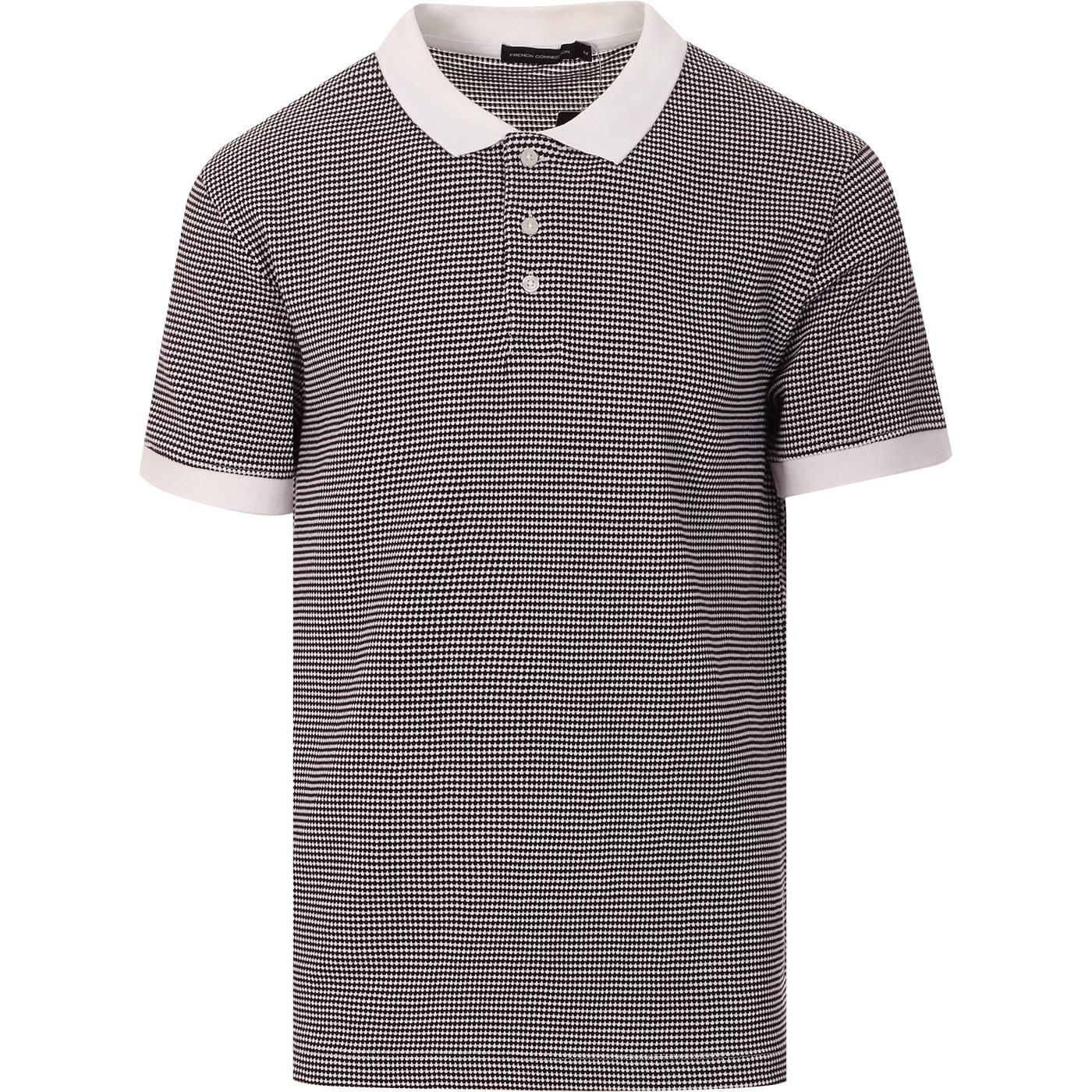 FRENCH CONNECTION Mod Micro Popcorn Stripe Polo