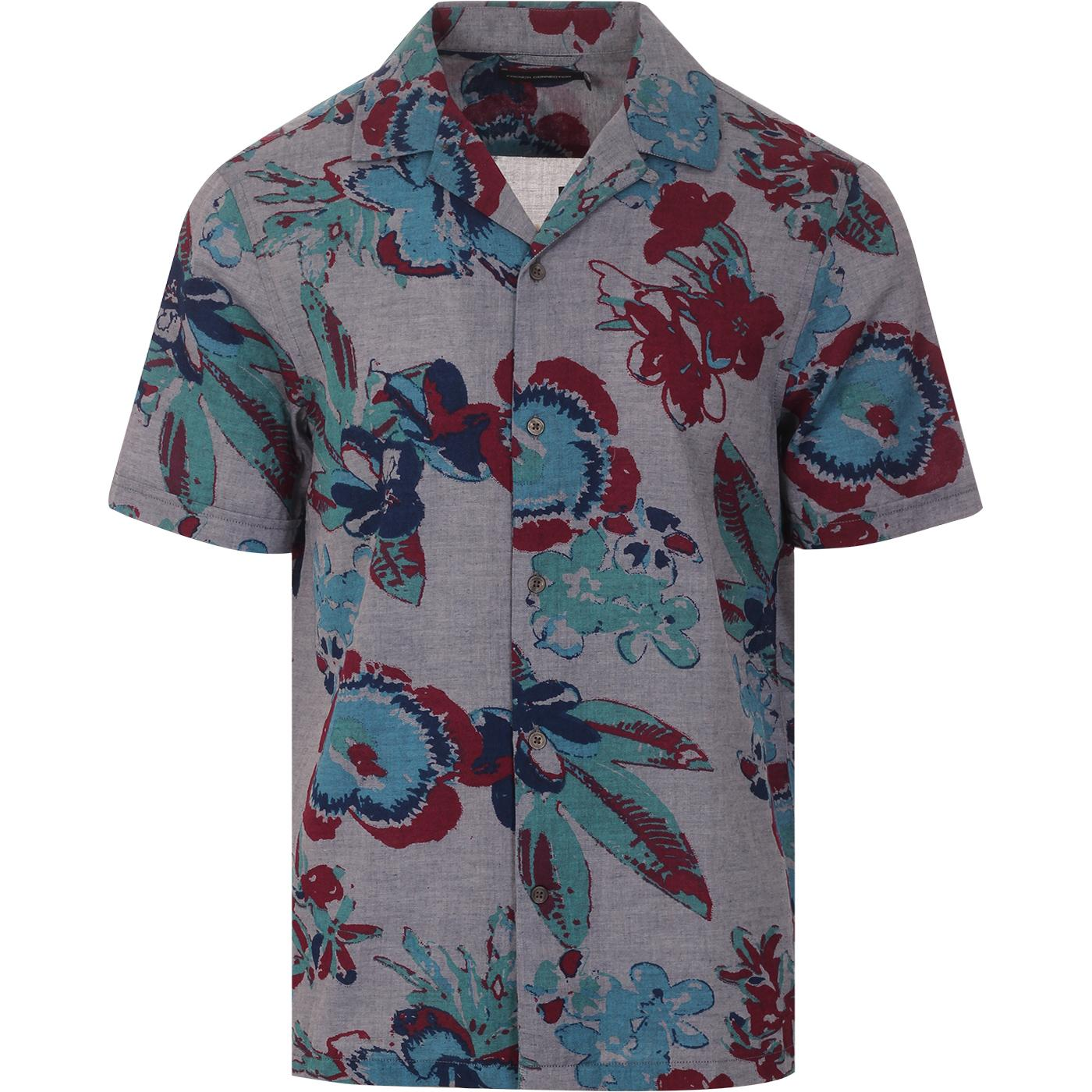 FRENCH CONNECTION Reactive Chambray Floral Shirt