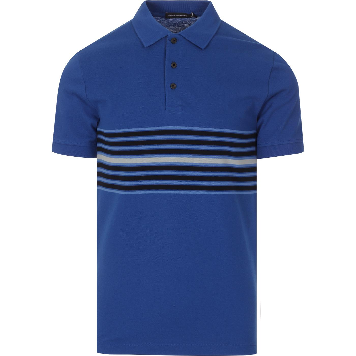 FRENCH CONNECTION Retro Engineered Stripe Polo