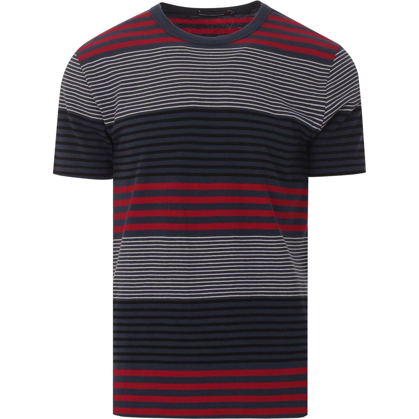 Dragged Stripe FRENCH CONNECTION Retro T-shirt