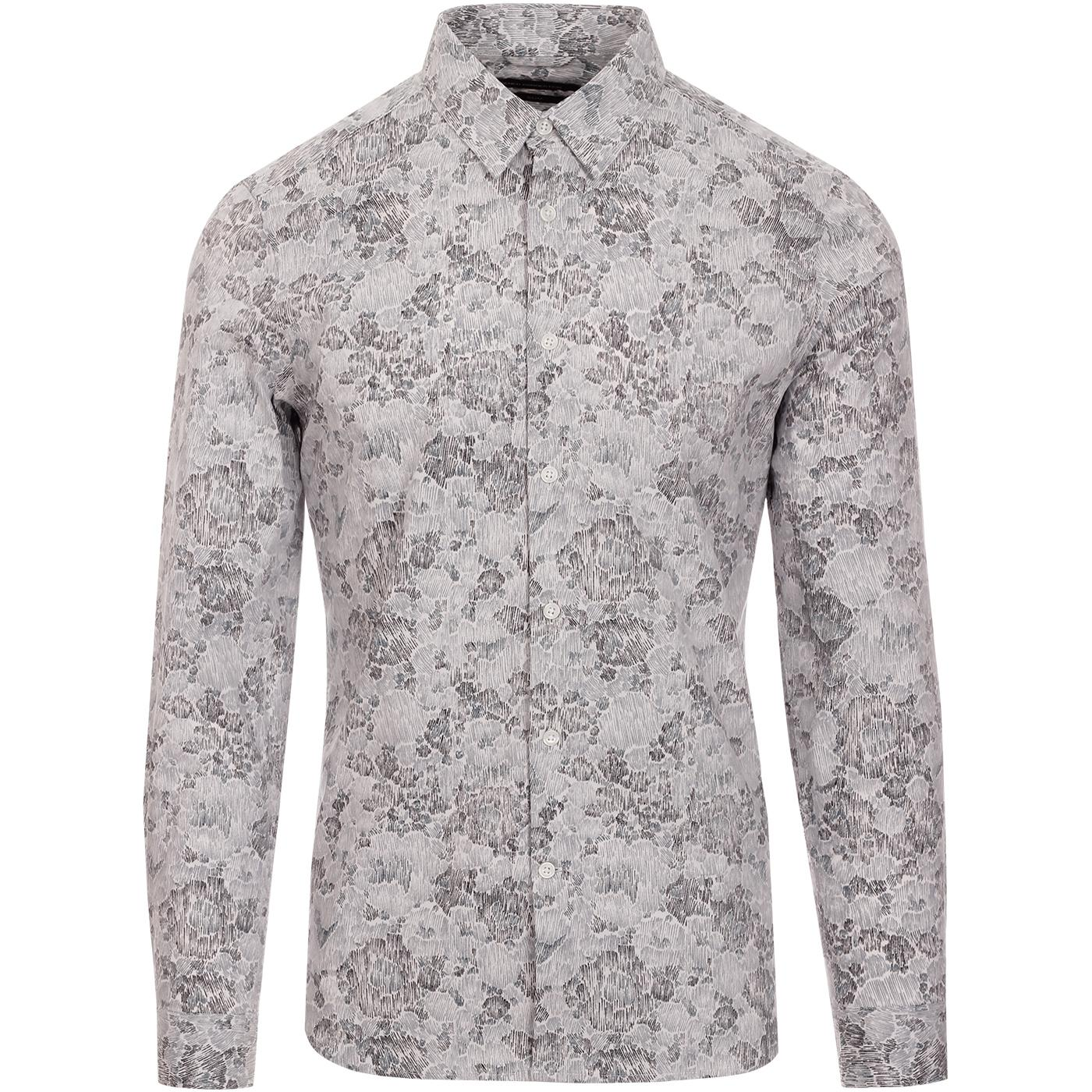 FRENCH CONNECTION Yari Mens Smudgy Camo Line Shirt