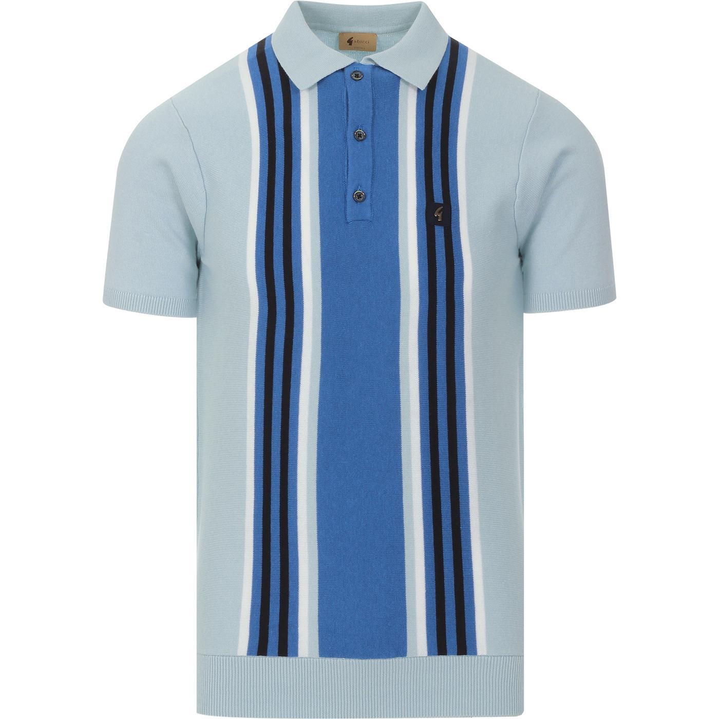 Casbah GABICCI VINTAGE Mod Stripe Knit Polo SHADE