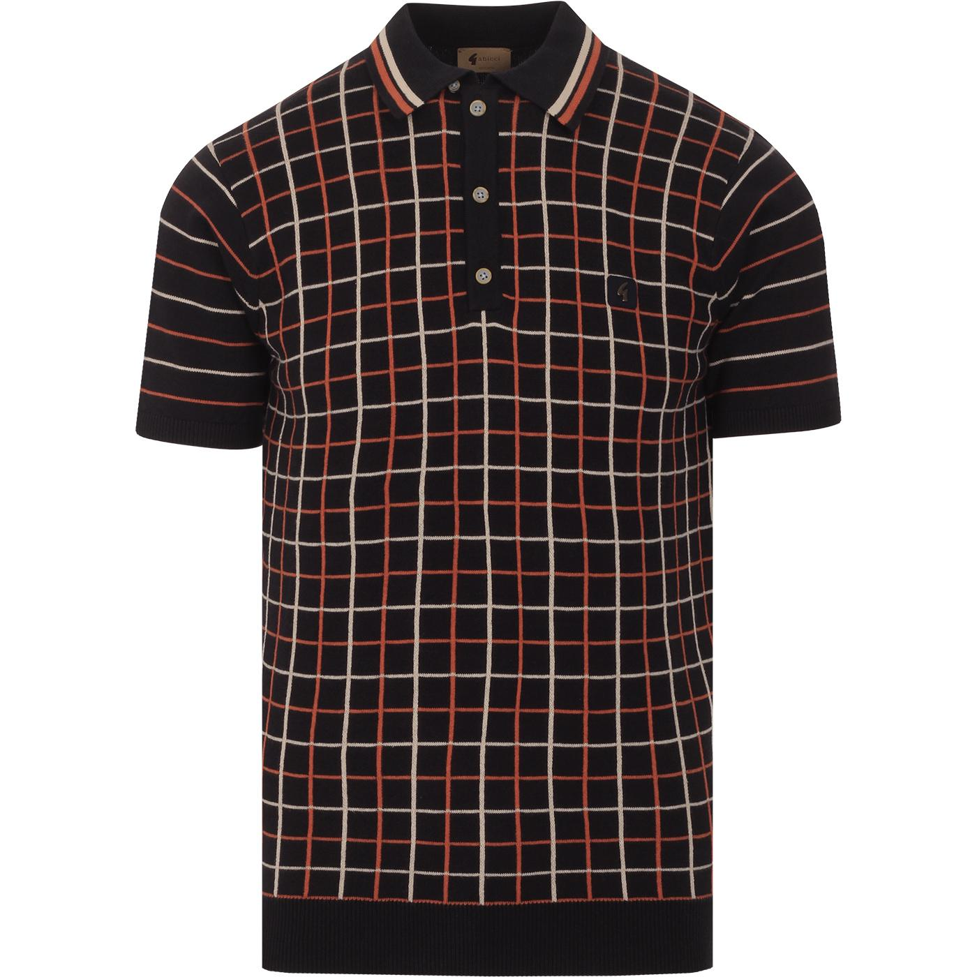 Chrono GABICCI VINTAGE Mod Graph Check Knit Polo N