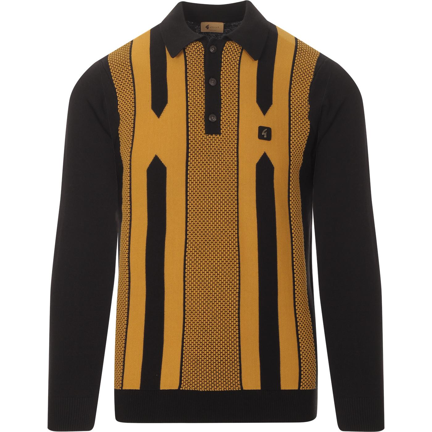 Cooper GABICCI VINTAGE Retro 80s Knitted Polo B