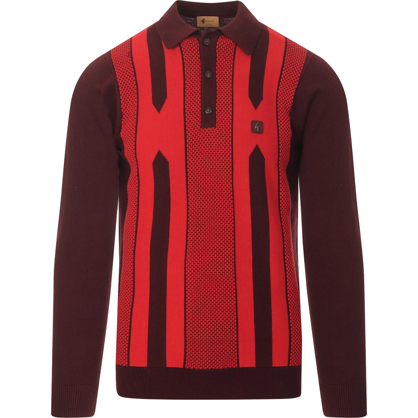 Cooper GABICCI VINTAGE Retro 80s Knitted Polo R