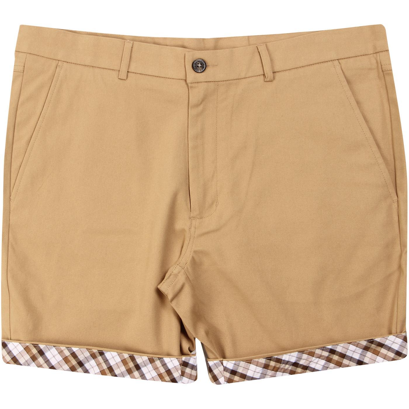 Cooper GABICCI VINTAGE Retro Check Trim Shorts (B)