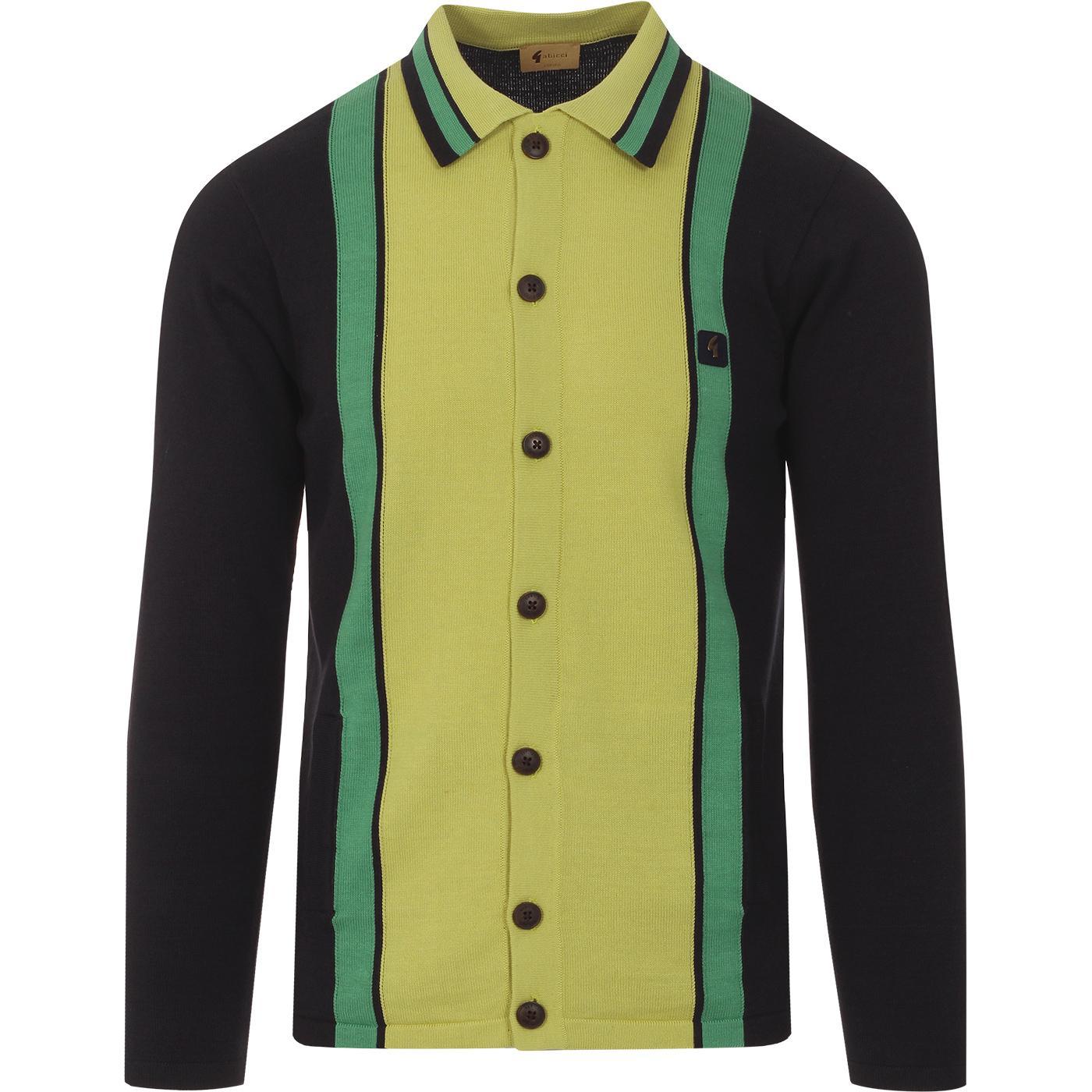 Davison GABICCI VINTAGE Mod Knit Polo Cardigan (N)