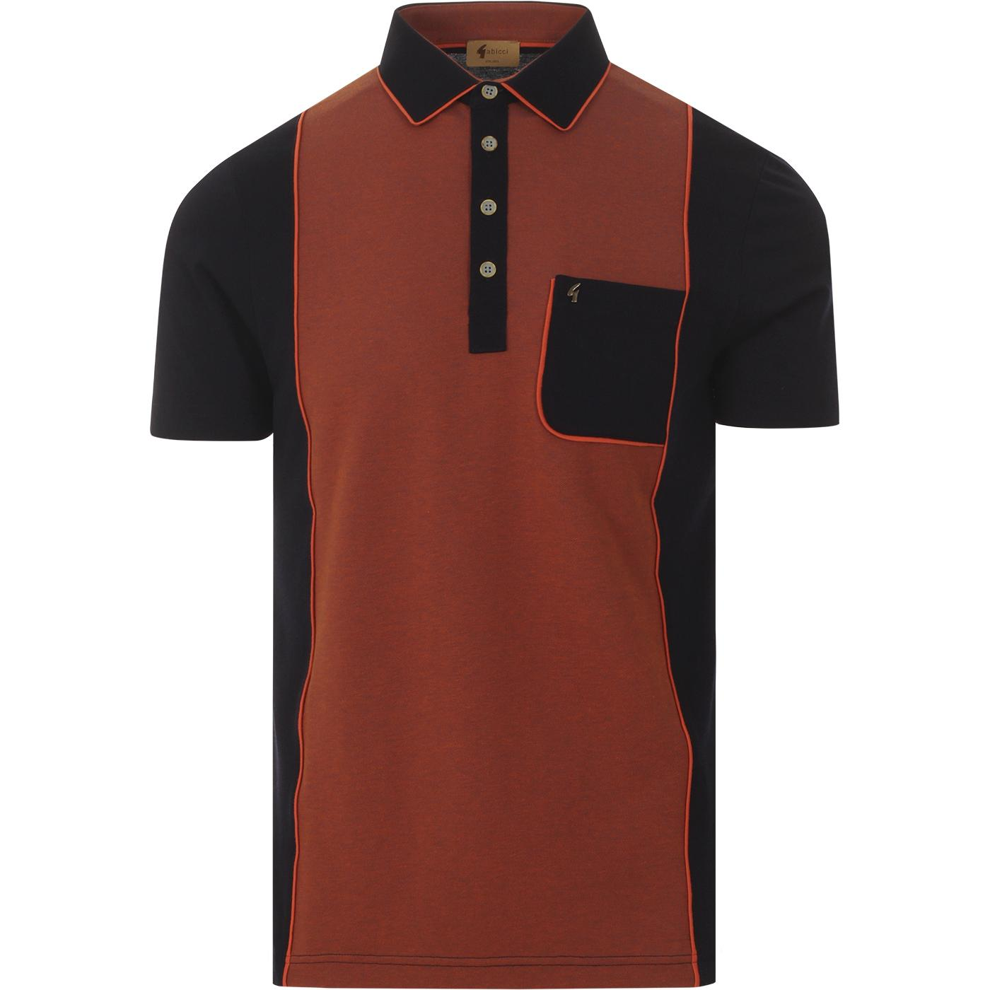 Degrees GABICCI VINTAGE Mod Piped Panel Polo NAVY