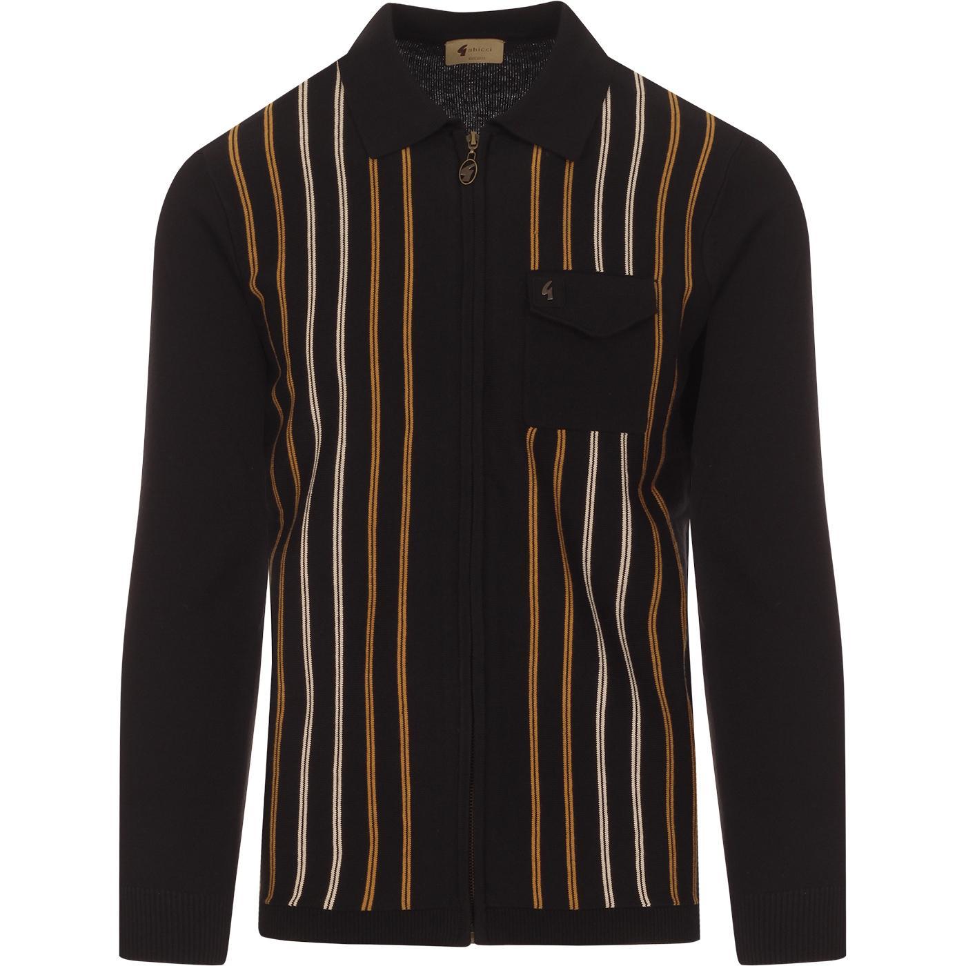 Device GABICCI VINTAGE Stripe Zip Polo Cardigan