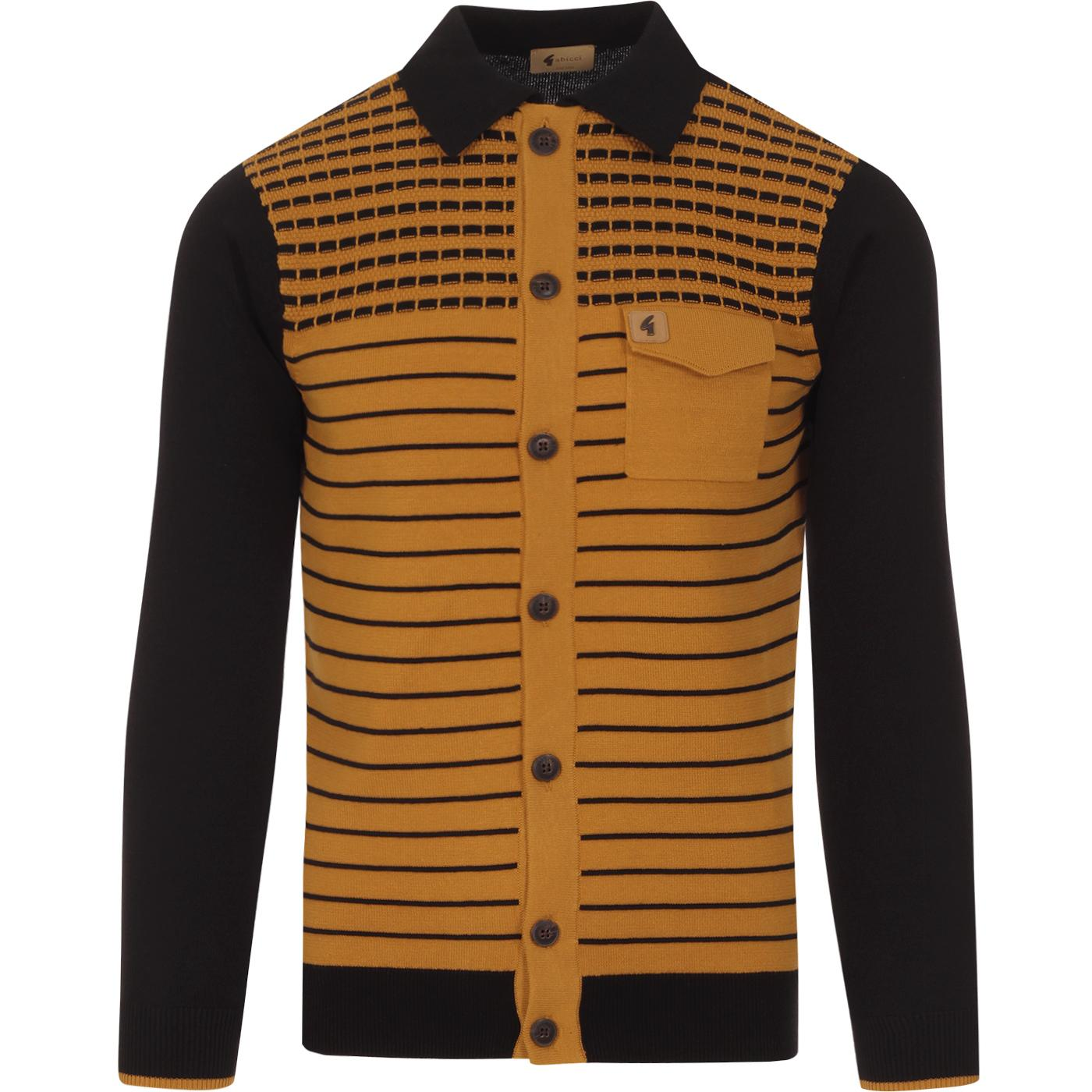 Escape GABICCI VINTAGE Mod Stripe Polo Cardigan