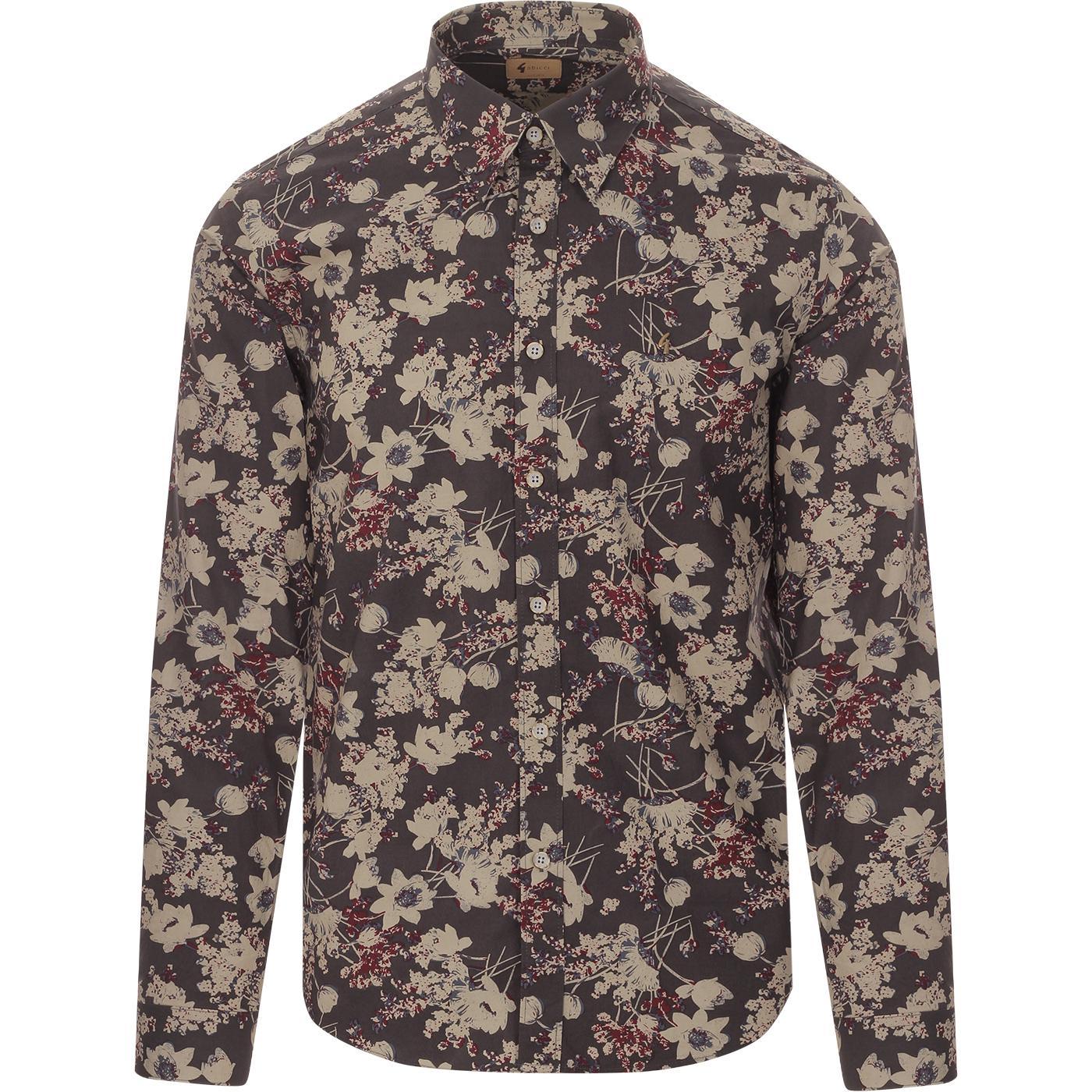 Keitel GABICCI VINTAGE 60s Mod Floral Shadow Shirt