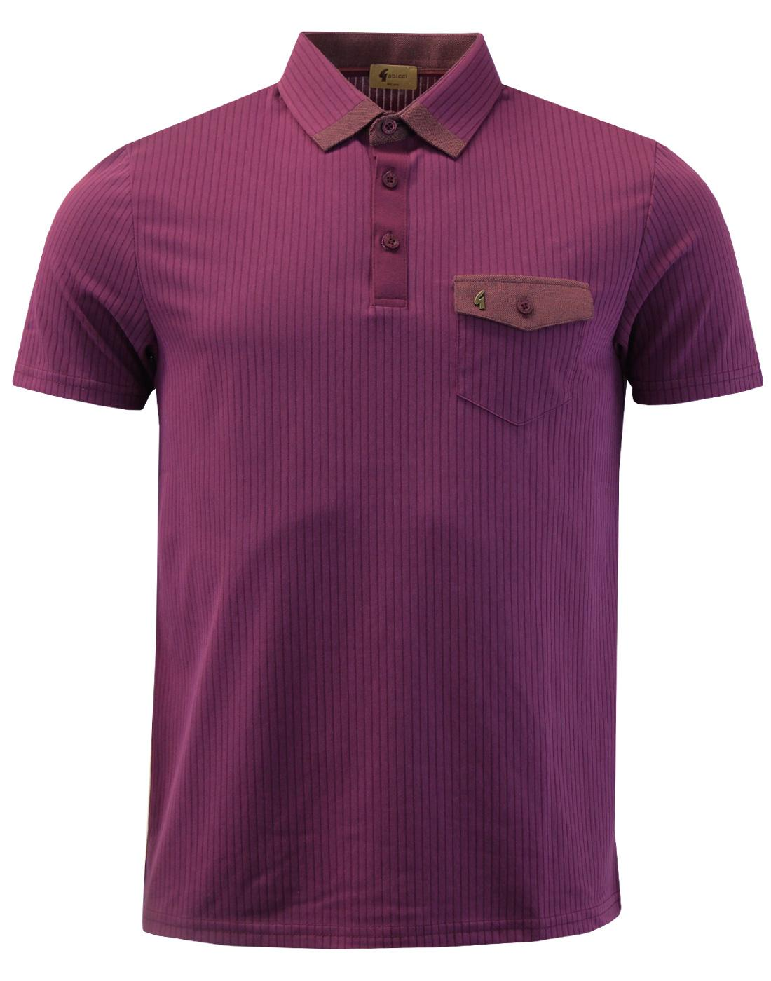 Grove GABICCI VINTAGE Retro Mod Ribbed Polo Top