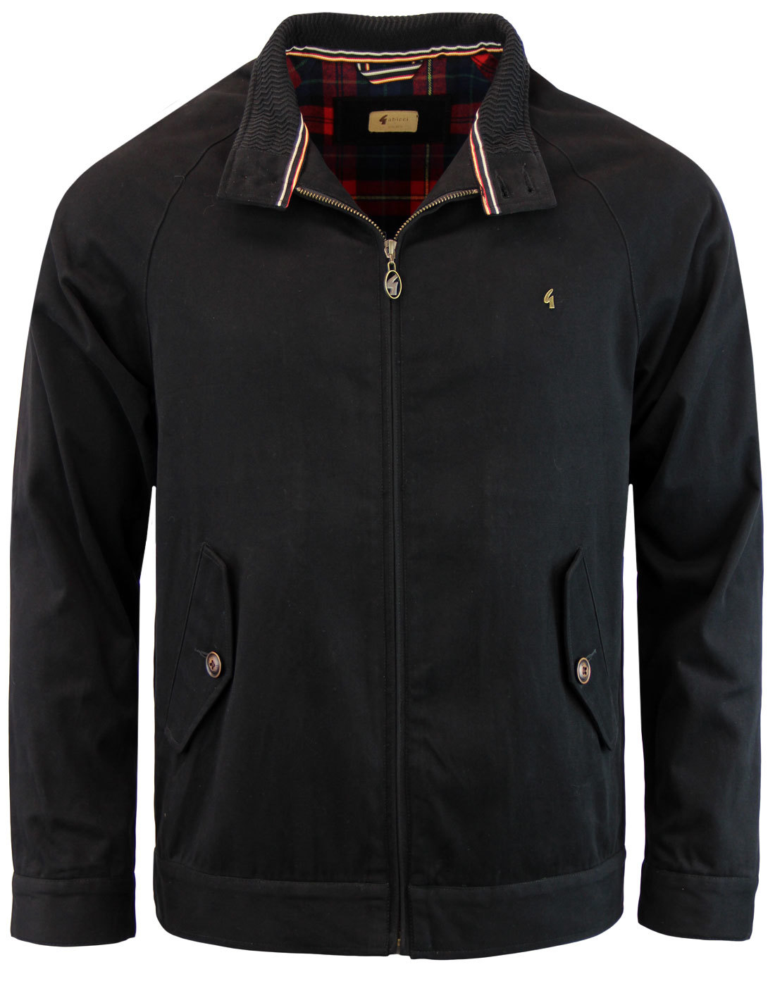 GABICCI VINTAGE Retro Mod Black Harrington Jacket