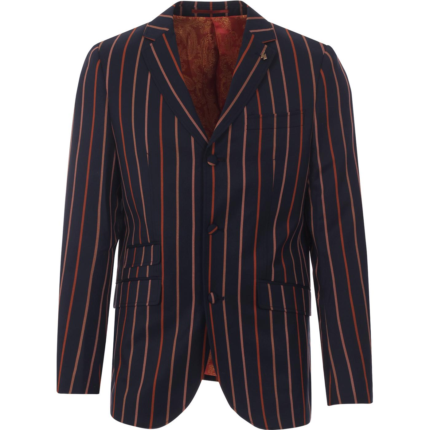 Keeko GABICCI VINTAGE 60s Mod Stripe Blazer (Navy)