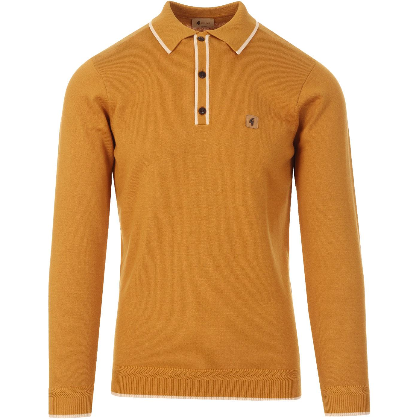 Lineker GABICCI VINTAGE Mod Tipped Knitted Polo H