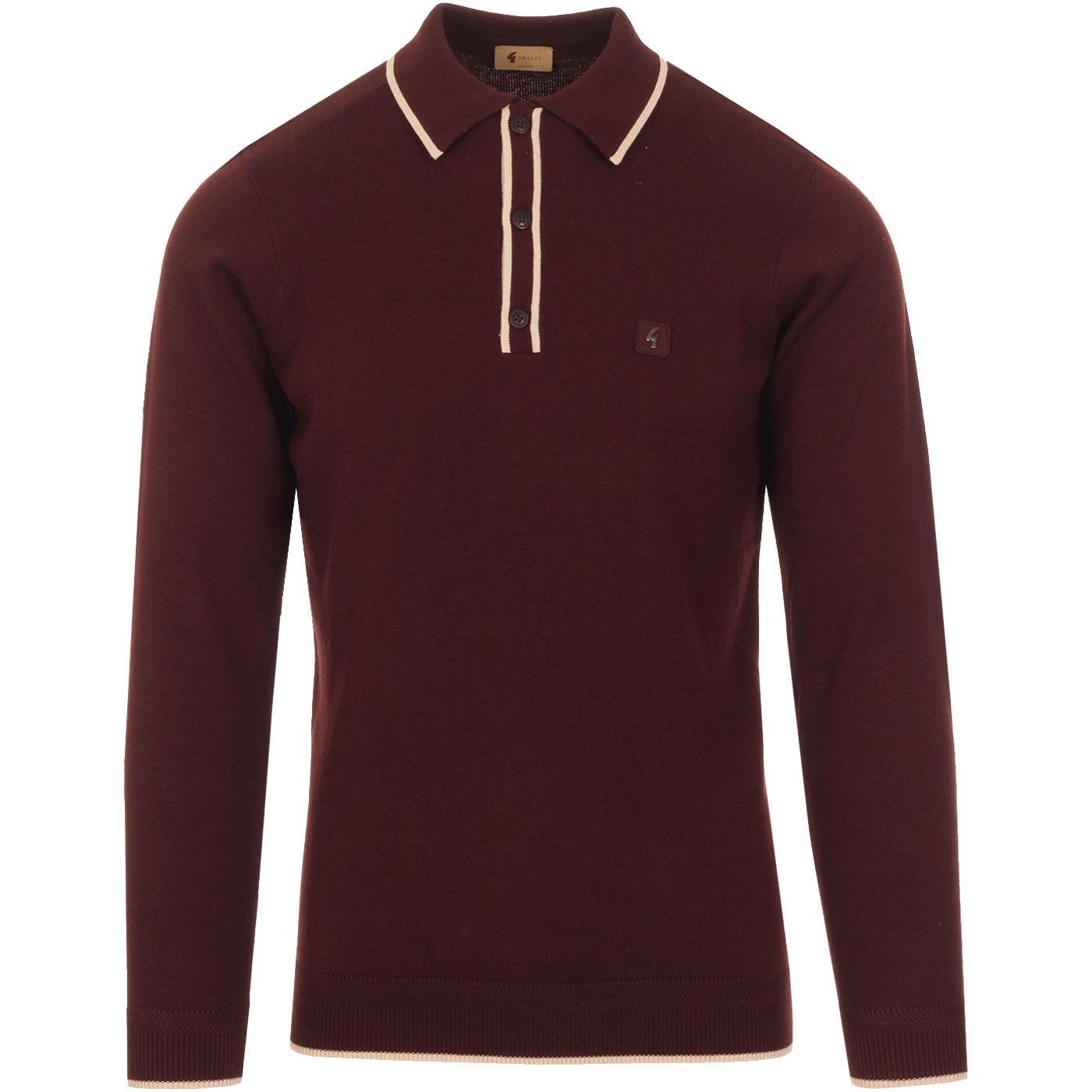 Lineker GABICCI VINTAGE Mod Tipped Knitted Polo O