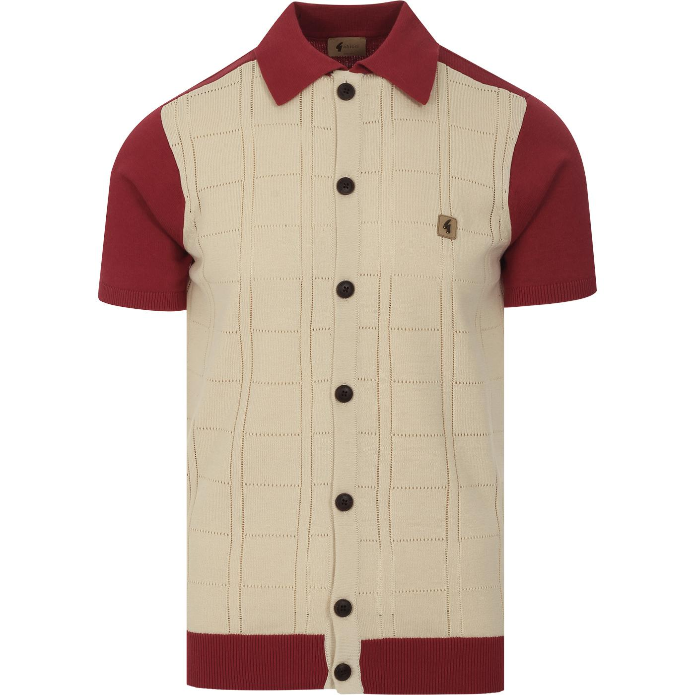 Morgan GABICCI VINTAGE Pointelle Check Polo Top LR
