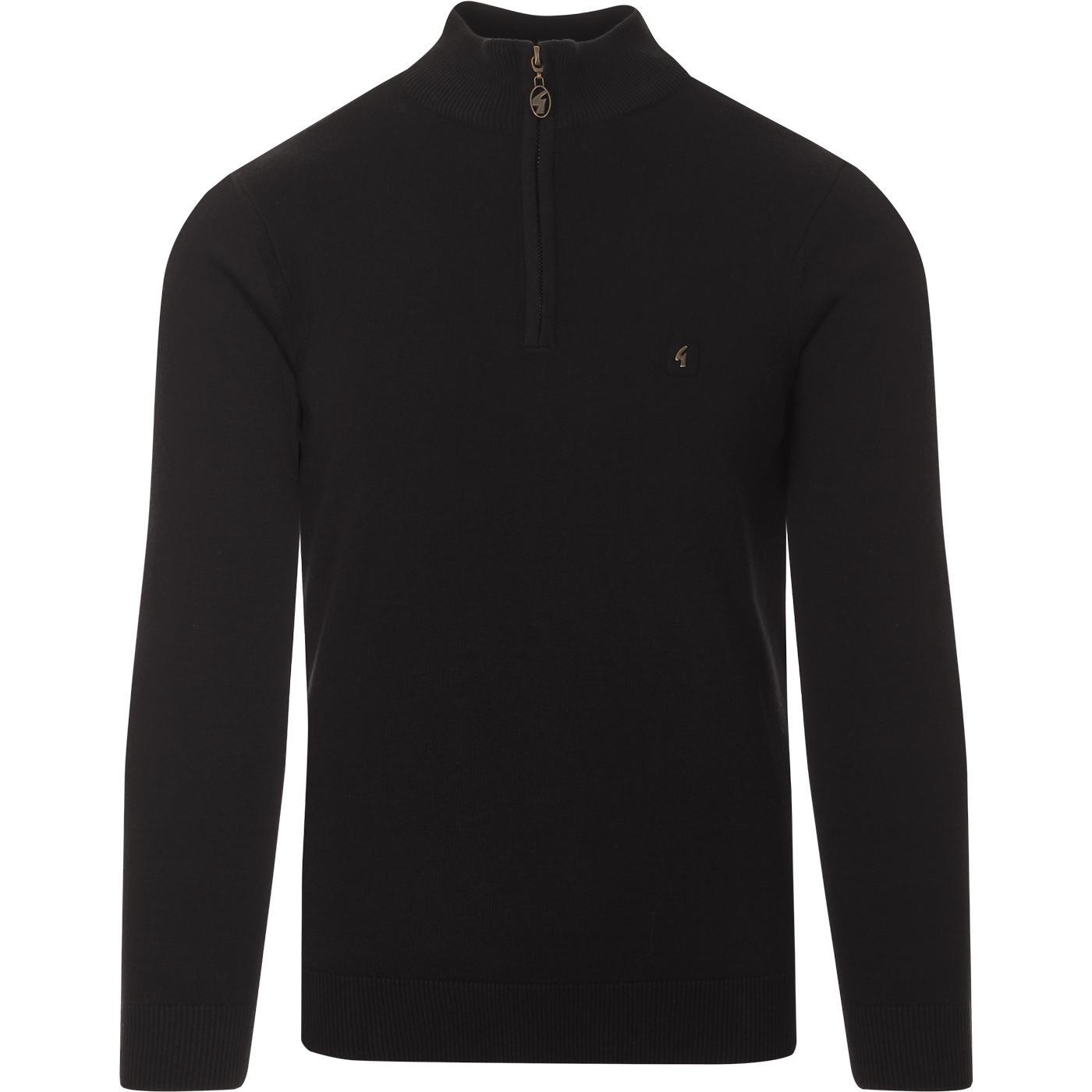 Naxton GABICCI VINTAGE Knitted Half Zip Top -Black