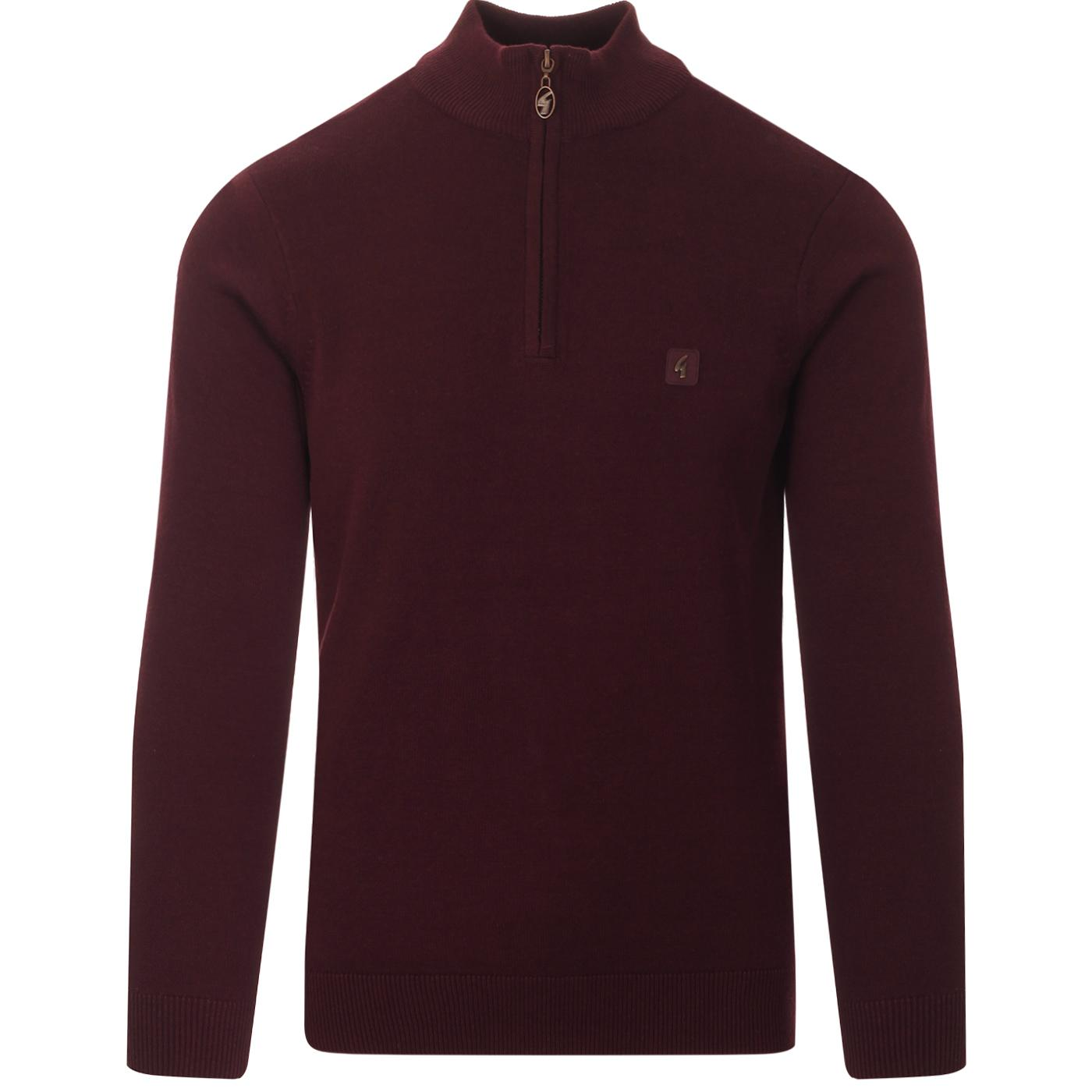 Naxton GABICCI VINTAGE Knitted Half Zip Top -Rioja