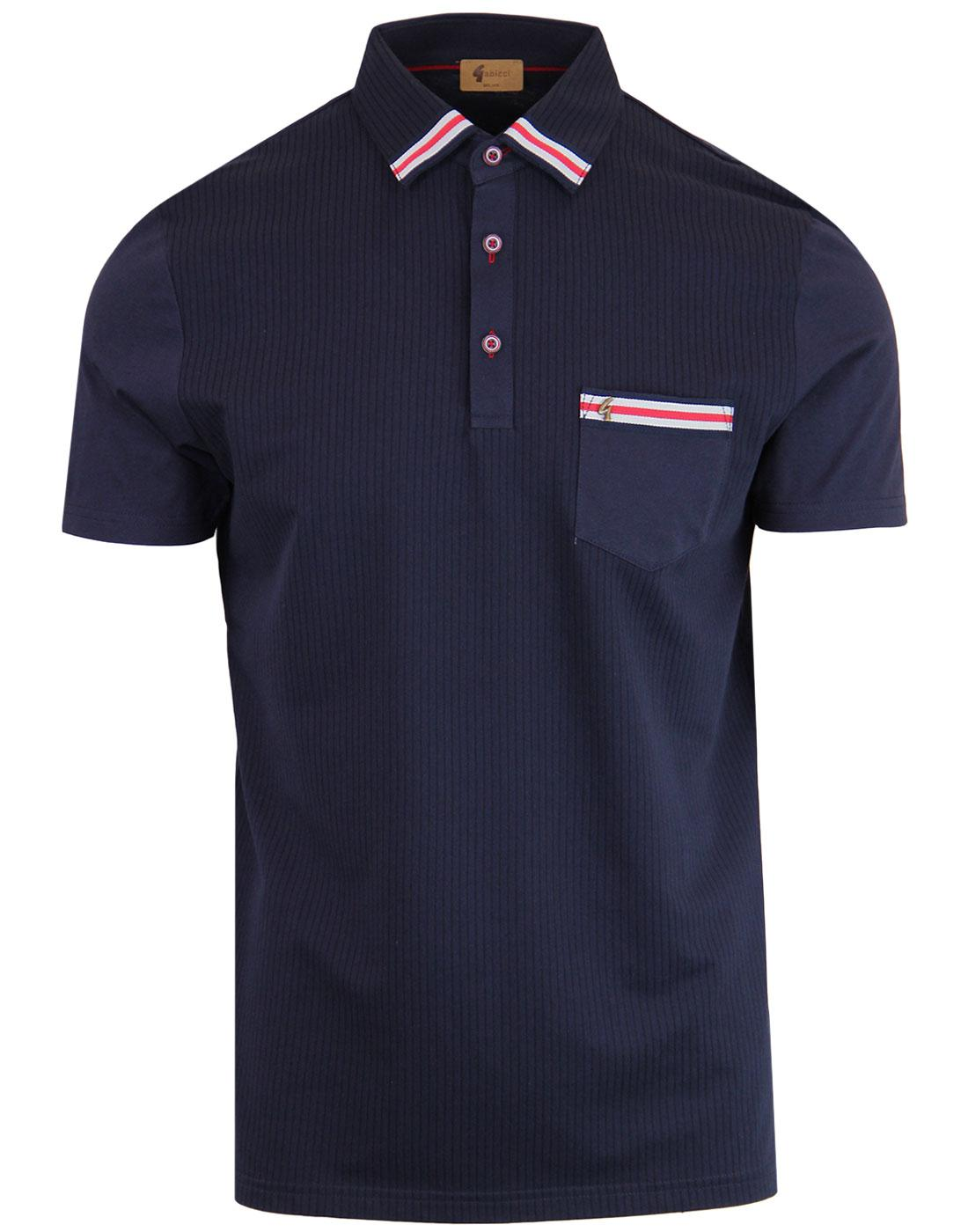 Proton GABICCI VINTAGE Retro Mod Ribbed Polo Top N