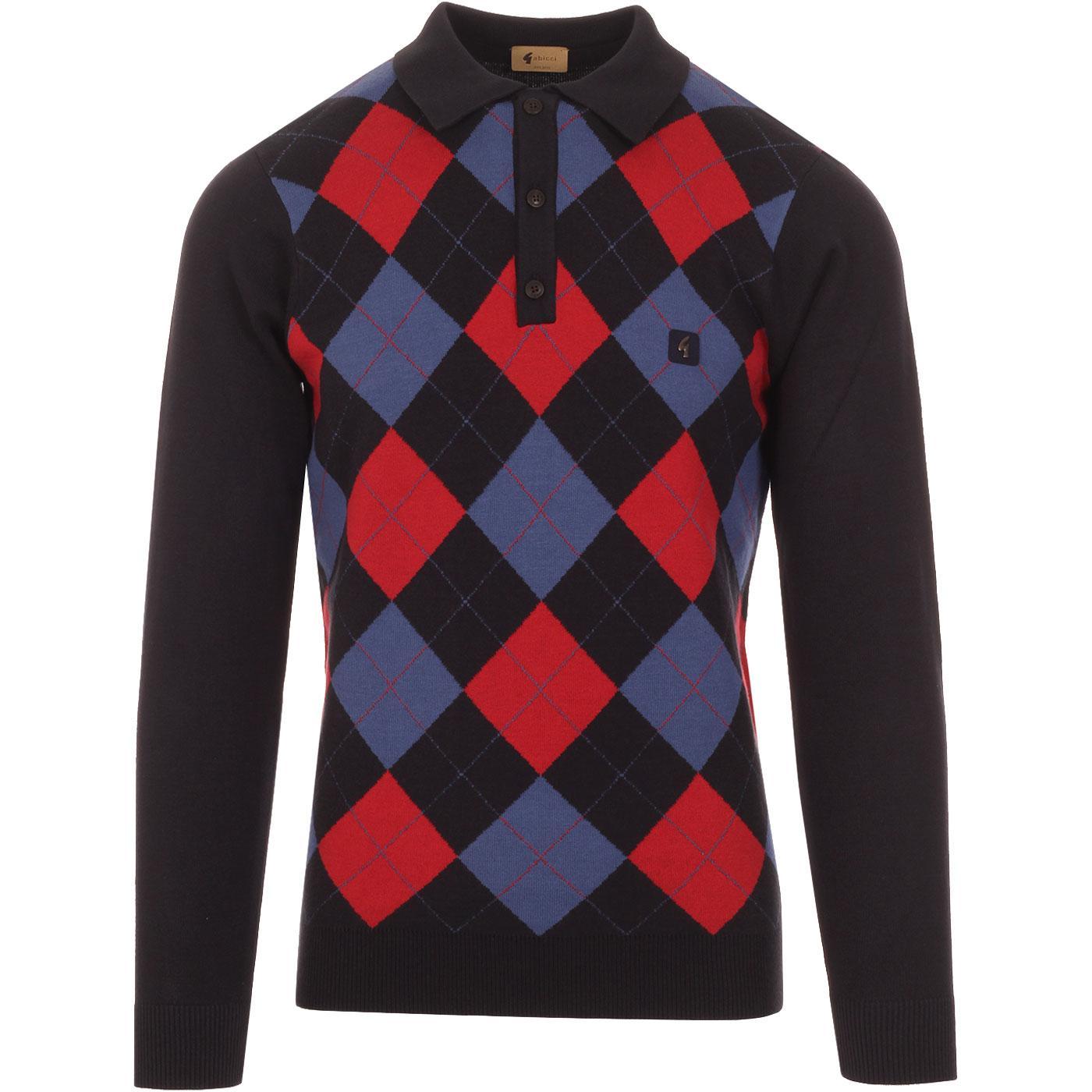 Putter GABICCI VINTAGE Mod Argyle Knitted Polo N