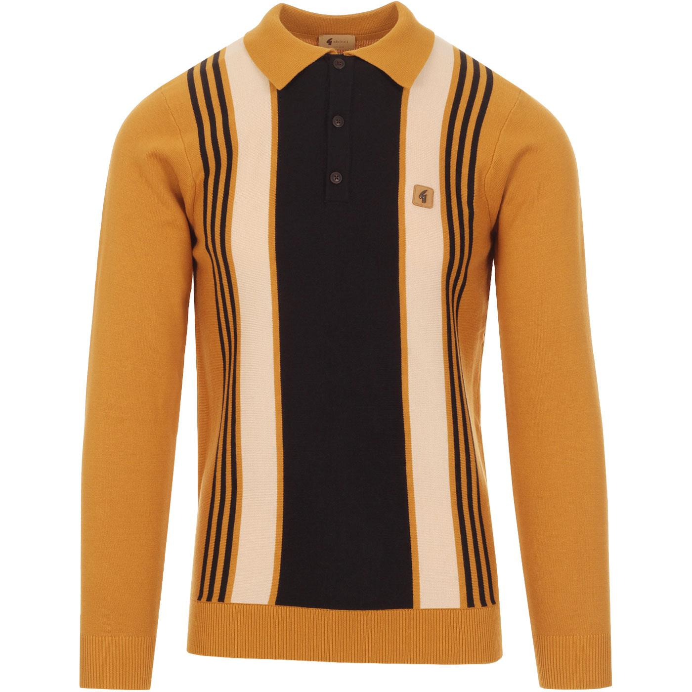 Searle GABICCI VINTAGE 60's Stripe Panel Polo H